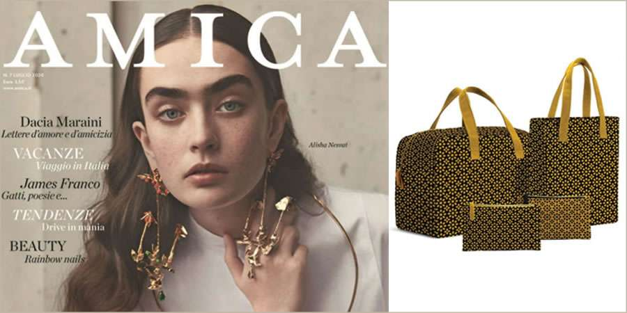 With Italian Amica magazine the icon bags made in Gadget Lab